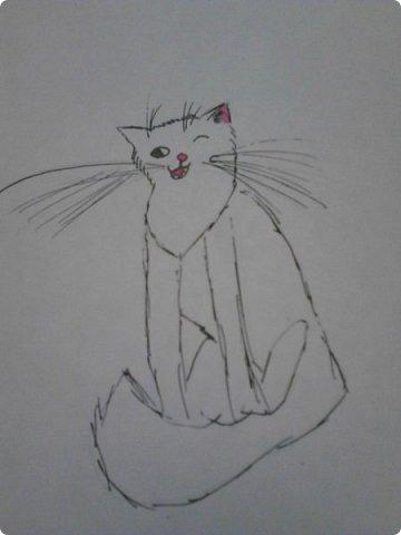 Здравствуй, Страна Мастеров! Как же давно меня тут не было! Сейчас я покажу вам свои новые рисунки.  На уроке ИЗО рисовали необычных существ. Вот мой рисунок. Крылатый Волк. фото 27