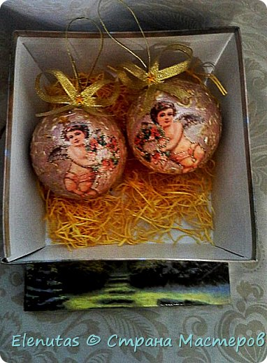 Добрый день,Страна! Представляю вашему вниманию набор новогодних шаров. Сделаны из пенопласта. фото 1