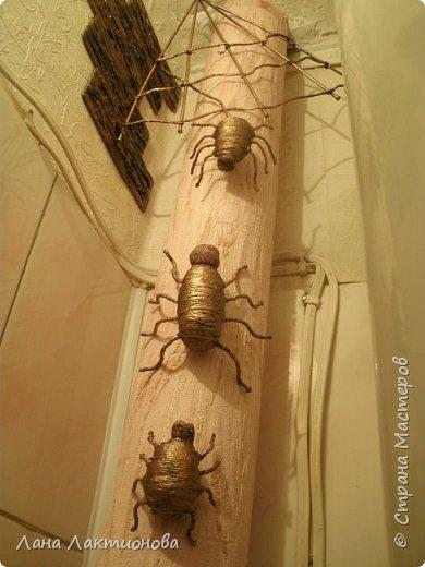 Здравствуйте жители Страны Мастеров - решила переделать паучков и сделала  еще одного паучка, что-бы была семья. фото 5