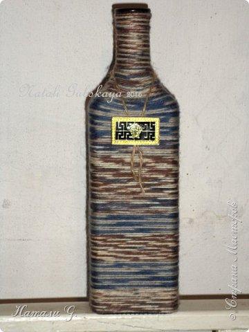 Декор бутылок (разные)-8 фото 2