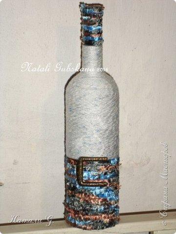 Декор бутылок (разные)-8 фото 5