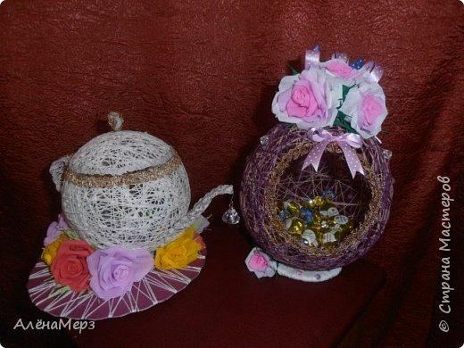 Это чайный сервиз я делала дочкам на конкурс в школе. Заняли 1-е место.  фото 1