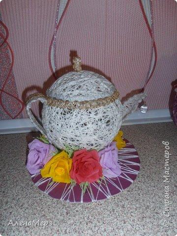 Это чайный сервиз я делала дочкам на конкурс в школе. Заняли 1-е место.  фото 3
