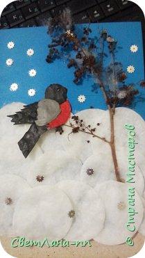Аппликация снегирь на ветке фото 1