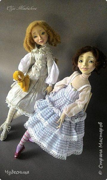 Марина. Еще одна кукольная проба, очередной мой кукольный опыт. Кукла с подвижными конечностями. Рост около 40 см. Голова, кисти рук, ножки - самозатвердевающий пластик. Тело - текстиль, холлофайбер. Одежда частично съемная. Чулочки, туфельки, нижнее платьице не снимаются. фото 9