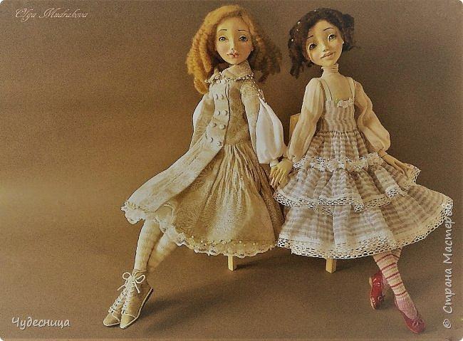 Марина. Еще одна кукольная проба, очередной мой кукольный опыт. Кукла с подвижными конечностями. Рост около 40 см. Голова, кисти рук, ножки - самозатвердевающий пластик. Тело - текстиль, холлофайбер. Одежда частично съемная. Чулочки, туфельки, нижнее платьице не снимаются. фото 1
