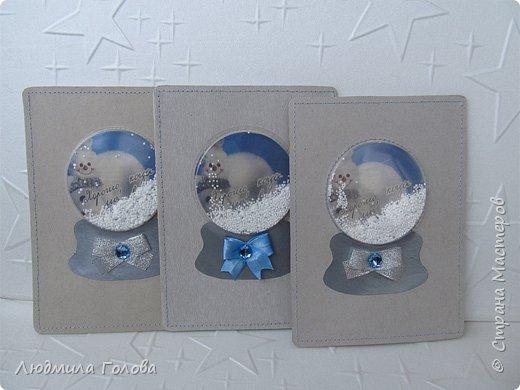 Открытка-шейкер Снеговик фото 5