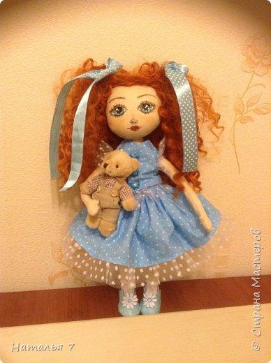 Кукла ручной работы, интерьерная. Ищет дом, одежда снимается, волосы аккуратно расчесывать. Рост 35 см. фото 1
