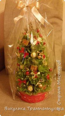 Такие елочки в прошлом году делала для воспитателей в детский сад. Решили подарить конфетки, но в красивой упаковке) фото 4