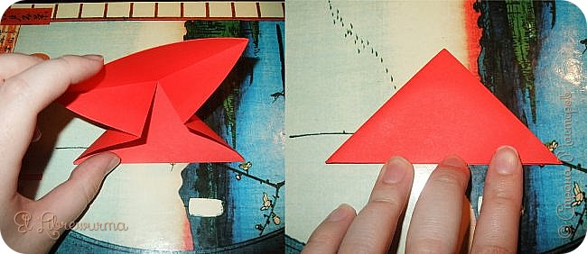 """Я немного пурист от оригами: модель должна быть сложена из квадратного, на худой конец, прямоугольного листа, ножницы и клей — табу. Соответственно, кусудамы клеевой сборки я презирала. Исключение было сделано лишь для этой и ещё одной модели, которые обе на клею, однако у них есть веское оправдание. Модель """"Цветочный шар"""" классическая, аутентичная и древняя настолько, что имя создателя потерялось во тьме веков, как и у другой кусудамы, которая так и называется — """"Классическая"""". Именно мысль, что сами древние японцы не гнушались использовать клей, и примирила меня с его использованием))) фото 6"""