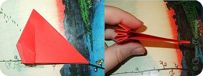 """Я немного пурист от оригами: модель должна быть сложена из квадратного, на худой конец, прямоугольного листа, ножницы и клей — табу. Соответственно, кусудамы клеевой сборки я презирала. Исключение было сделано лишь для этой и ещё одной модели, которые обе на клею, однако у них есть веское оправдание. Модель """"Цветочный шар"""" классическая, аутентичная и древняя настолько, что имя создателя потерялось во тьме веков, как и у другой кусудамы, которая так и называется — """"Классическая"""". Именно мысль, что сами древние японцы не гнушались использовать клей, и примирила меня с его использованием))) фото 13"""
