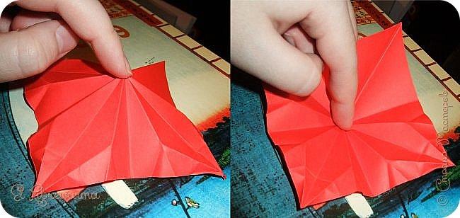 """Я немного пурист от оригами: модель должна быть сложена из квадратного, на худой конец, прямоугольного листа, ножницы и клей — табу. Соответственно, кусудамы клеевой сборки я презирала. Исключение было сделано лишь для этой и ещё одной модели, которые обе на клею, однако у них есть веское оправдание. Модель """"Цветочный шар"""" классическая, аутентичная и древняя настолько, что имя создателя потерялось во тьме веков, как и у другой кусудамы, которая так и называется — """"Классическая"""". Именно мысль, что сами древние японцы не гнушались использовать клей, и примирила меня с его использованием))) фото 16"""
