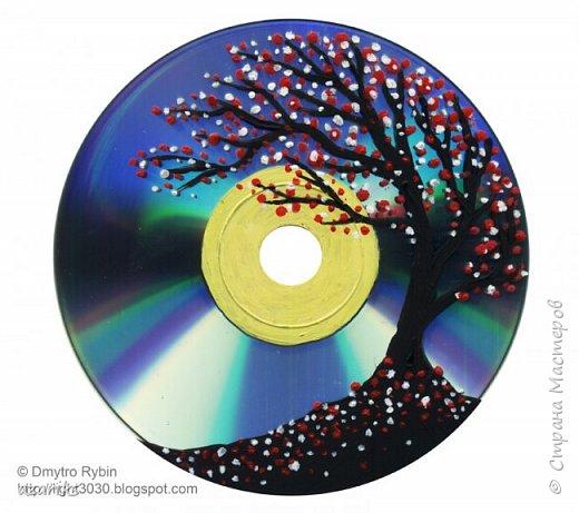 Пейзаж на DVD акрилом