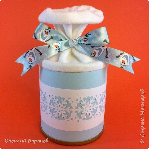 Упаковка для новогоднего подарка «Снежинки»