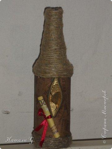 Декор бутылок (разные)-9 фото 5
