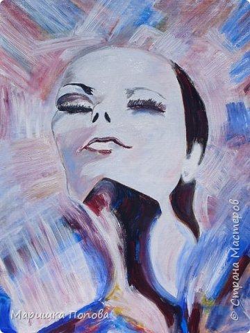 """""""Ее мысли""""- масляные краски фото 1"""