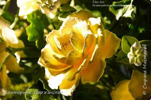 Букет из желтых роз и снежной ягоды фото 22