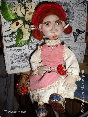 Всем хорошего дня. Эта кукла сшита в подарок. Пробую валять лица. фото 4