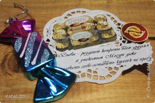 """Доброго всем вечера! приглашаю на 6 этап совместника.Тема """"Шоколадные конфеты"""" Думала я думала и вот что надумала..конфеты и знаки зодиака. Выбирают участники совместника https://stranamasterov.ru/node/1055187#comment-14335674 ,а после выбора участников,оставшиеся могут выбрать гости. ДА и сюрприз есть  в одной карточке! фото 8"""