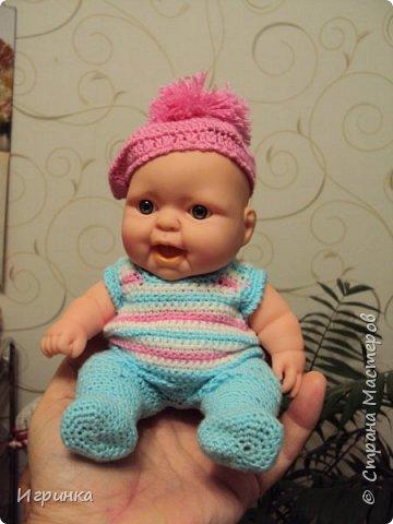 Здравствуйте! Одела я наконец-то своего нового малыша. Беретик, правда, с чужой головы. фото 1