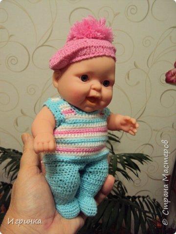 Здравствуйте! Одела я наконец-то своего нового малыша. Беретик, правда, с чужой головы. фото 2