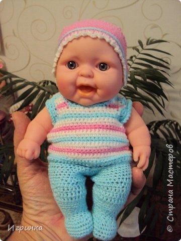 Здравствуйте! Одела я наконец-то своего нового малыша. Беретик, правда, с чужой головы. фото 3