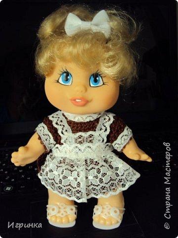 Здравствуйте! Одела я наконец-то своего нового малыша. Беретик, правда, с чужой головы. фото 9