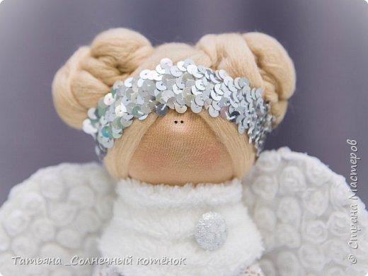 Текстильная куколка: Зимний ангел Серафима фото 1