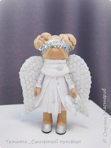 Текстильная куколка: Зимний ангел Серафима фото 2