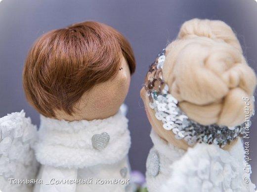 Текстильная куколка: Зимний ангел Серафима фото 3