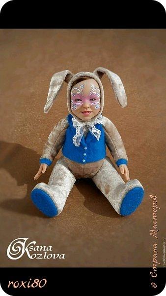 Здравствуйте, дорогие гости! Вот попробовала слепить моську малыша и поместить в туловище мишки тедди, получился вот такой теддидолл. фото 4