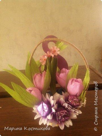Делали с дочерью подарки учителям на 8 марта. Получилось миленько. фото 1