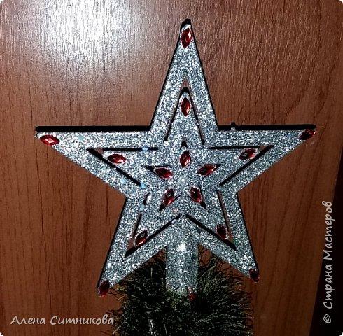 """новогодняя елка из ниток """"травка"""" фото 4"""
