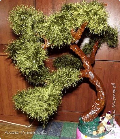 """Дерево из ниток """"травка"""" фото 1"""