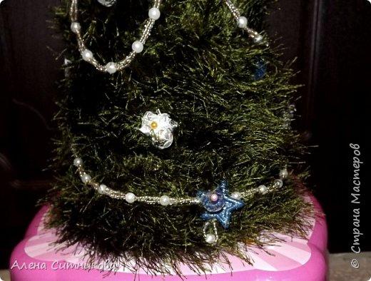 """новогодняя елка из ниток """"травка"""" фото 2"""
