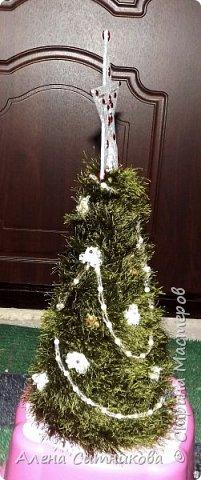 """новогодняя елка из ниток """"травка"""" фото 3"""