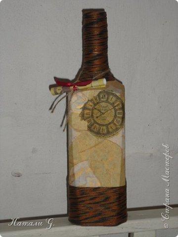Декор бутылок (разные)-10 фото 1