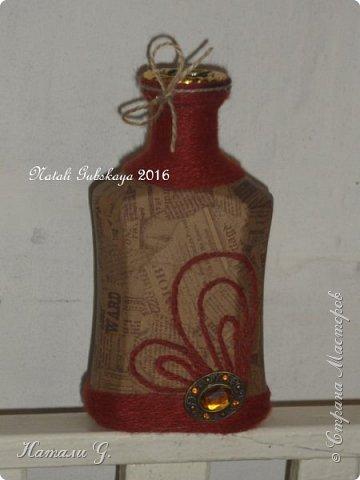 Декор бутылок (разные)-10 фото 3