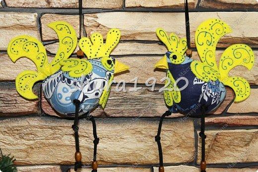 Петушки под Гжель, расписные!  фото 22