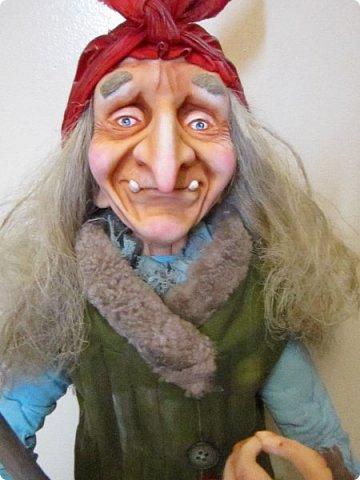 Баба Яга сделана на заказ- высота 60 см! Цвет одежды пожелание заказчика! фото 17