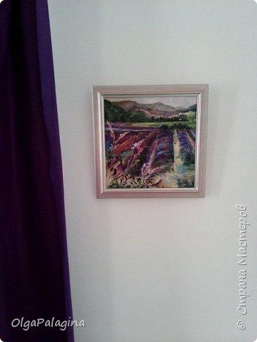 """Картина """"Лавандовые поля"""" (масло,холст)  в интерьере"""