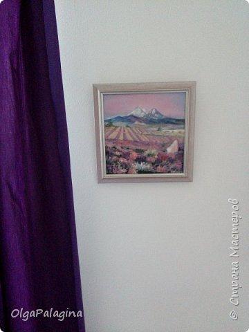 """Картина """"Лавандовые поля 2"""" (масло,холст)  в интерьере"""