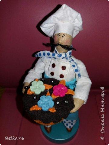 Вот такой вот повар получился у меня на день рожденья друга) Торт родился в последние минуты)) фото 2