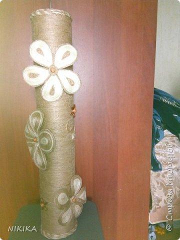 Идею подчеркнула у мастериц, есть много МК, очень мне понравились эти вазочки, да и сам процесс изготовления затягивает. фото 1
