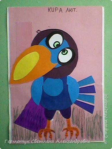 """Работы ребят 4""""В"""" класса на тему """"Зимующие птицы"""".Птицы получились симпатичные и веселые. фото 3"""