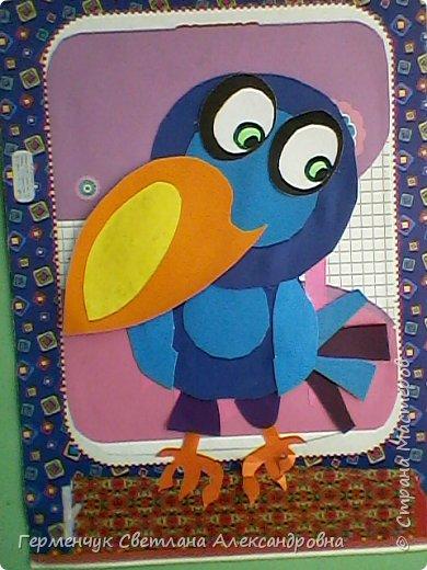 """Работы ребят 4""""В"""" класса на тему """"Зимующие птицы"""".Птицы получились симпатичные и веселые. фото 4"""