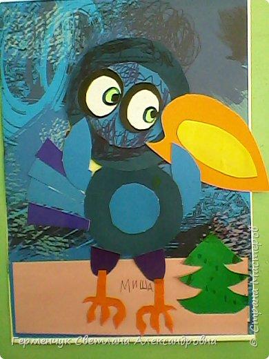 """Работы ребят 4""""В"""" класса на тему """"Зимующие птицы"""".Птицы получились симпатичные и веселые. фото 7"""