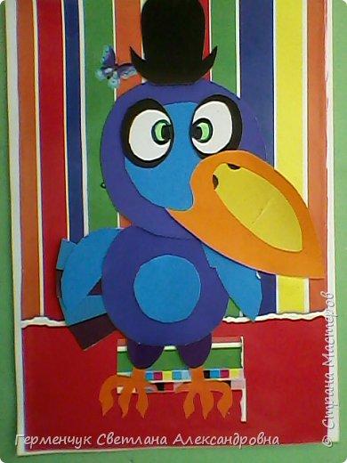 """Работы ребят 4""""В"""" класса на тему """"Зимующие птицы"""".Птицы получились симпатичные и веселые. фото 9"""