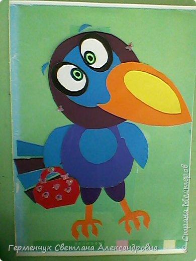 """Работы ребят 4""""В"""" класса на тему """"Зимующие птицы"""".Птицы получились симпатичные и веселые. фото 12"""