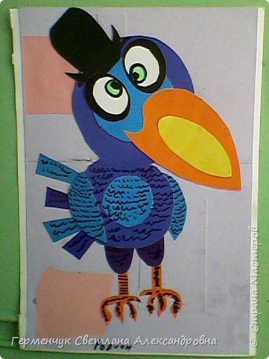 """Работы ребят 4""""В"""" класса на тему """"Зимующие птицы"""".Птицы получились симпатичные и веселые. фото 16"""
